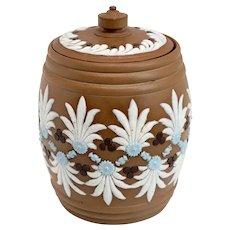 English Doulton Lambeth Silicon Ware Stoneware Pottery Tobacco Jar