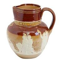 Small English Lambeth Stoneware Pottery Queen Victoria Jubilee Pitcher