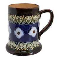 English Doulton Lambeth Art Nouveau Pottery Mug or Tankard