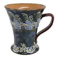 English Doulton Lambeth Louisa Wakely Art Nouveau Stoneware Pottery Mug