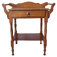 Small American Victorian Maple Washstand