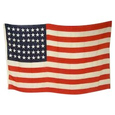 Large Vintage American Wool and Cotton 48-Star Flag