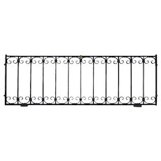 American Wrought Iron Hinged Rectangular Window Grate