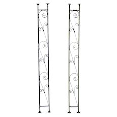 Pair of Vintage American Wrought Iron Porch Architectural Supports