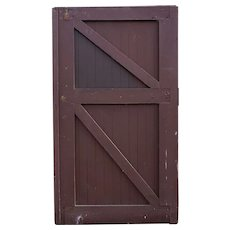 American Tudor Style Painted Solid Pine Barn Door