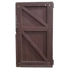 American Tudor Style Painted Solid Pine Barn Door
