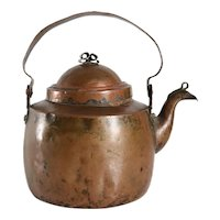 Small Swedish Copper Gooseneck Teapot or Water Kettle