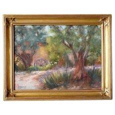 YOLANDA GURRIES Pastel on Paper, Summer Lane, California