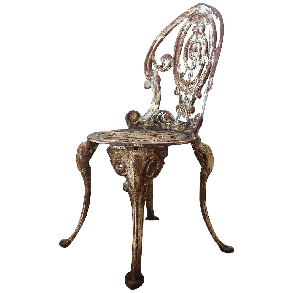 English Victorian Cast Iron Child S Garden Chair To Expand