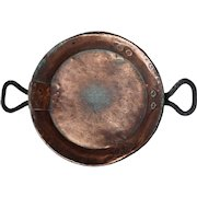 French Copper and Double Iron Handle Cookware Pan