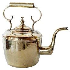 Large Dutch Brass Tea Kettle