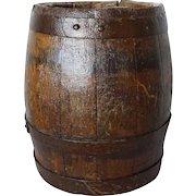 Small English Iron Bound Oak Barrel