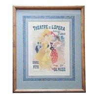 JULES CHERET Lithograph Print, Theatre de l'Opera, Plate 149