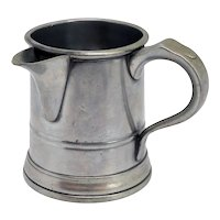 English John Warne Pewter Windmill Tavern Side-Spouted Pint Measure Mug
