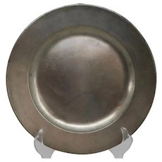 English Georgian Pewter TR Plate
