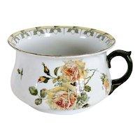 English Royal Doulton Ceramic Underglazed Indestructible Flowers Chamber Pot