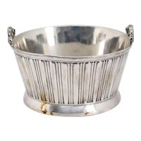 Large American Victorian Rogers, Smith & Co. Silverplate Two-Piece Butter Tub