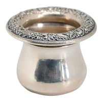 Vintage American S.  Kirk & Son Sterling Silver Repousse Toothpick Holder
