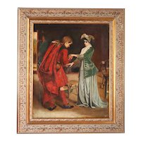 After George W. Joy Oil Painting on Canvas, Prince Charlie's Farewell to Flora MacDonald