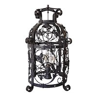 American Victorian Wrought Iron Five-Light Hanging Lantern