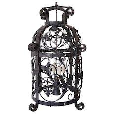 American Wrought Iron John B. Good House Five-Light Hanging Pendant Lantern