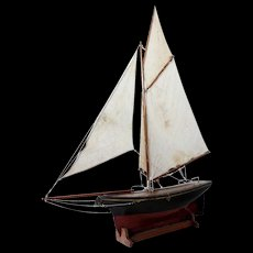English Painted Pond Yacht on Stand