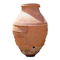 Large Spanish Red Terracotta Oil Jar