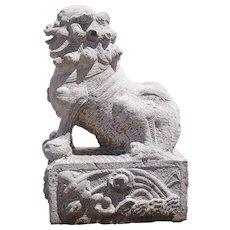 Chinese Stone Architectural Foo Dog Bracket