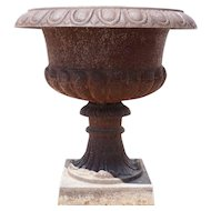 Victorian Style Neoclassical Cast Iron Planter Urn
