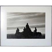 BARBARA VAN CLEVE Black and White Photograph, Trail Boss and His Segundos