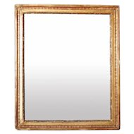 French Gilt Gesso Rectangular Mirror