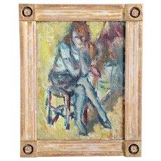 REIDAR BJORN WIVESTAD Oil on Canvas on Artist Board Painting, Portrait of a Lady