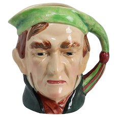 Rare Vintage English Beswick Ware Pottery Ebenezer Scrooge Dickens Character Jug