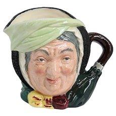 Vintage English Royal Doulton Porcelain Charles Dickens Sairey Gamp D5528 Character Jug