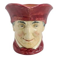 Large Vintage  English Royal Doulton Porcelain The Cardinal D5614 Character Jug