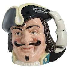 Large Vintage English Royal Doulton Porcelain Captain Henry Morgan D6467 Character Jug