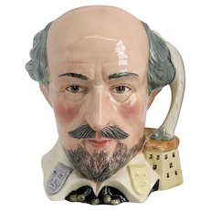 Large Vintage English Royal Doulton Porcelain William Shakespeare D6689 Character Jug