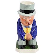 Rare Vintage English Eric Olsen for Copeland Spode Porcelain Sir Winston Churchill Toby Jug