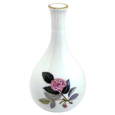 Vintage English Wedgwood Gilt and Bone China Hathaway Rose Bud Vase