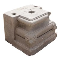 Anglo Indian Limestone Pilaster Base