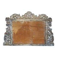 Rare Indo-Portuguese Baroque Silver Mounted Frame
