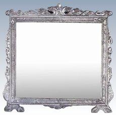 Rare Large Indo-Portuguese Silver Frame