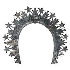 Rare Indo-Portuguese Silver Saint's Crown