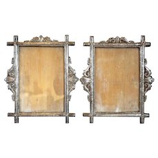 Rare Pair of Indo-Portuguese Silver Frames