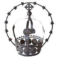 Indo-Portuguese Silver Santos Crown and Halo