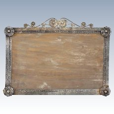 Large Indo-Portuguese Silver Mounted Frame