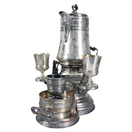 Assembled Six-Piece American Aesthetic Movement Silverplate Lemonade Set