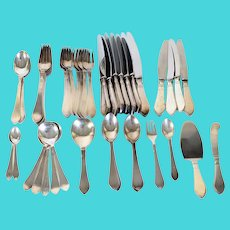 53 Pieces Danish Georg Jensen Sterling Silver Continental/Antik Flatware