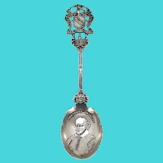 English G & C Sterling Silver William Shakespeare Souvenir Spoon