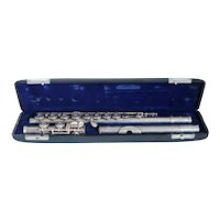 Vintage American Gemeinhardt Cased M3S Solid Silver and Silverplate Open Keys Flute